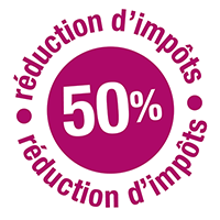 50% réduction d'impôts